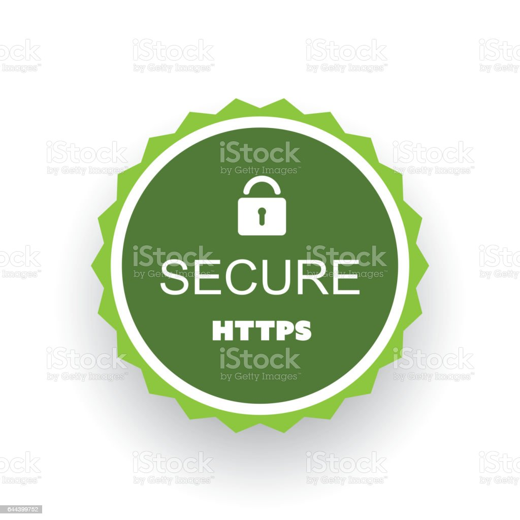Secure Website Certificate Badge Stock Vector Art More Images Of