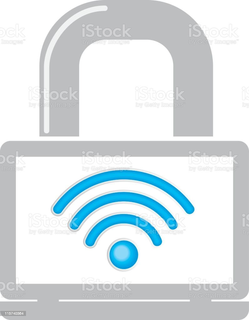Secure Wireless Icon royalty-free secure wireless icon stock vector art & more images of color image
