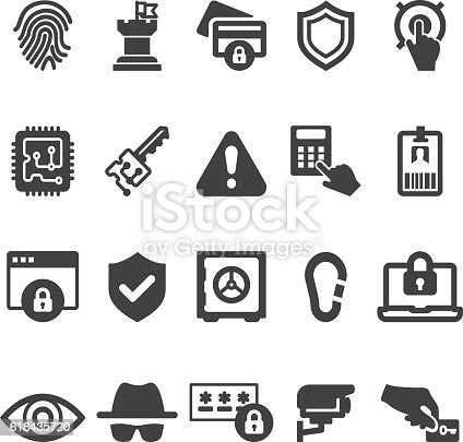 Security 20 Silhouette Icons