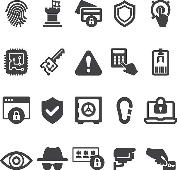 Security 20 Silhouette Icons| EPS10 Security 20 Silhouette Icons emergency equipment stock illustrations
