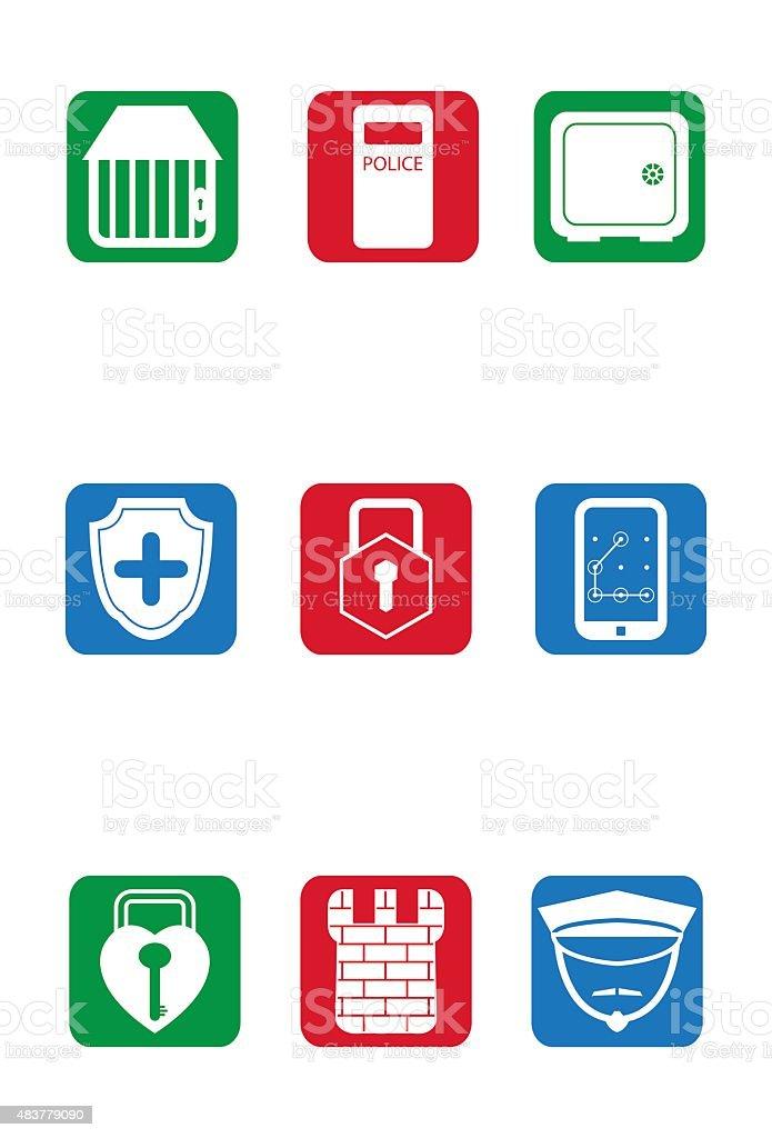Sicherheit und Schutz – Vektorgrafik