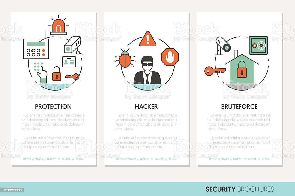 Security and Safety Business Brochures Template - Illustration vectorielle