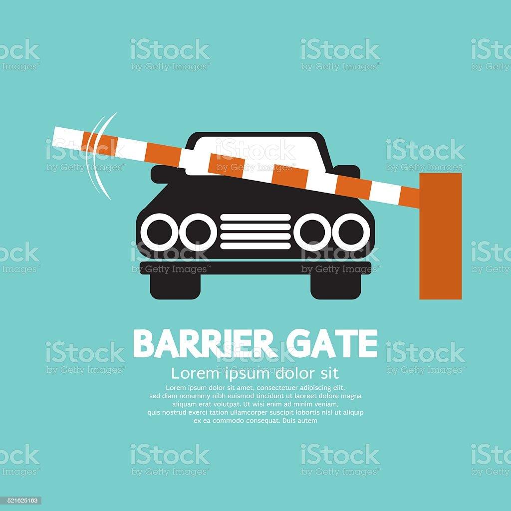Security Barrier Gate Closed For Vehicle Vector Illustration vector art illustration