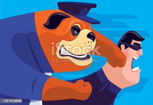 security bulldog punching thief
