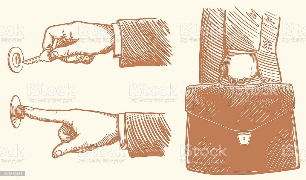 security business portfolio vector art illustration