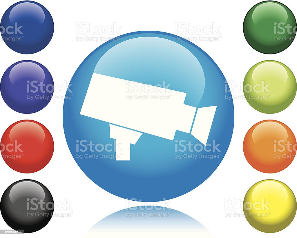 Security Camera Icon royalty-free security camera icon stock vector art & more images of black color