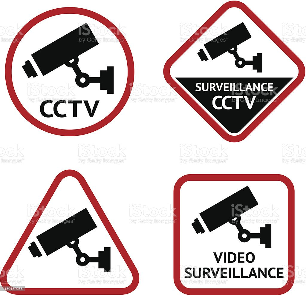Security camera, set stickers royalty-free security camera set stickers stock vector art & more images of 24 hrs