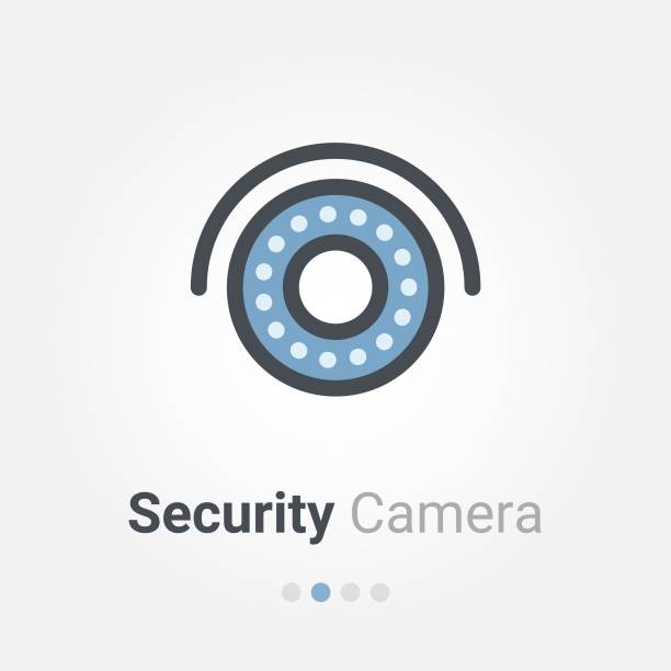 security camera vector icon security camera vector icon infrared stock illustrations