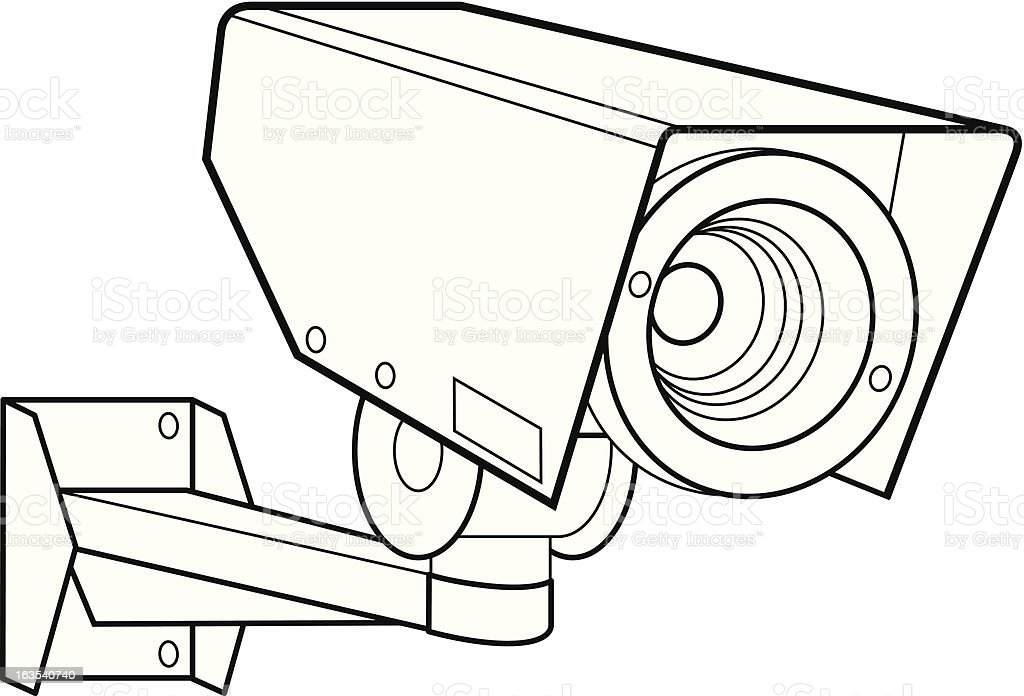 Security Camera royalty-free security camera stock vector art & more images of bracket - household fixture