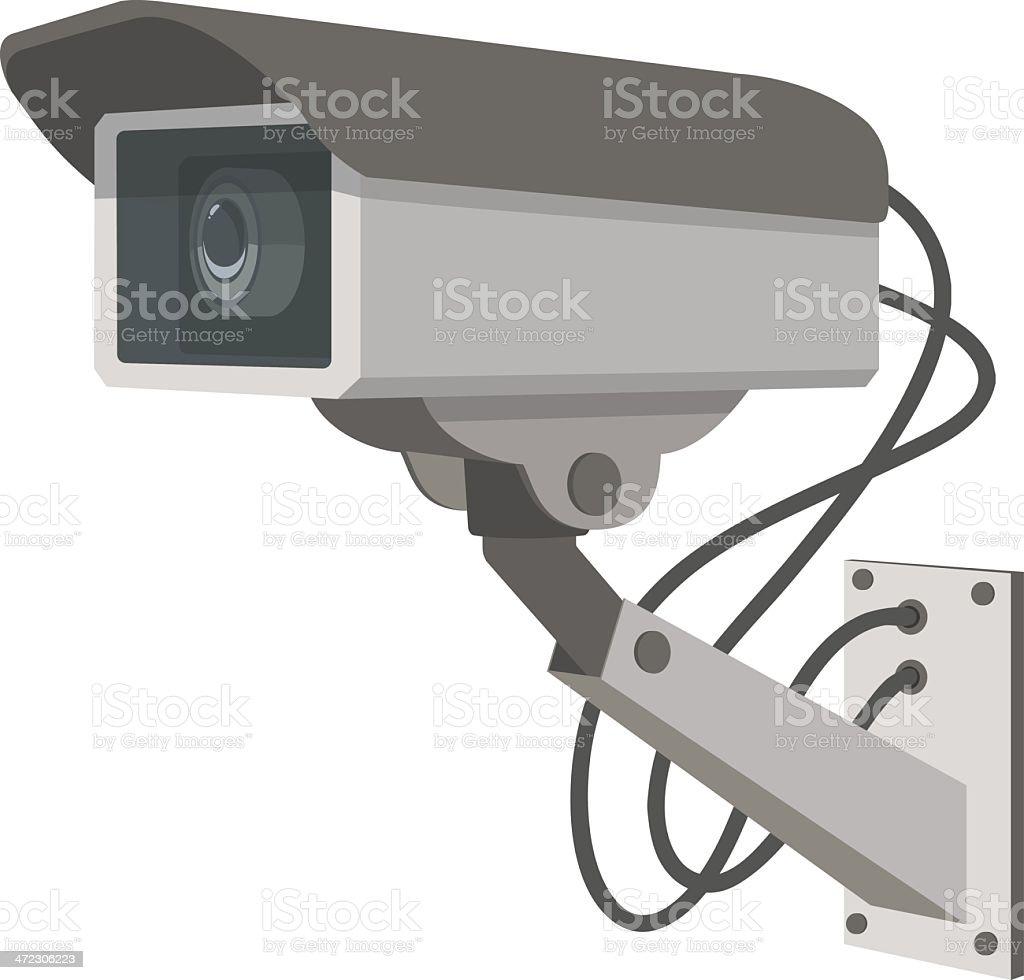 Security Camera vector art illustration