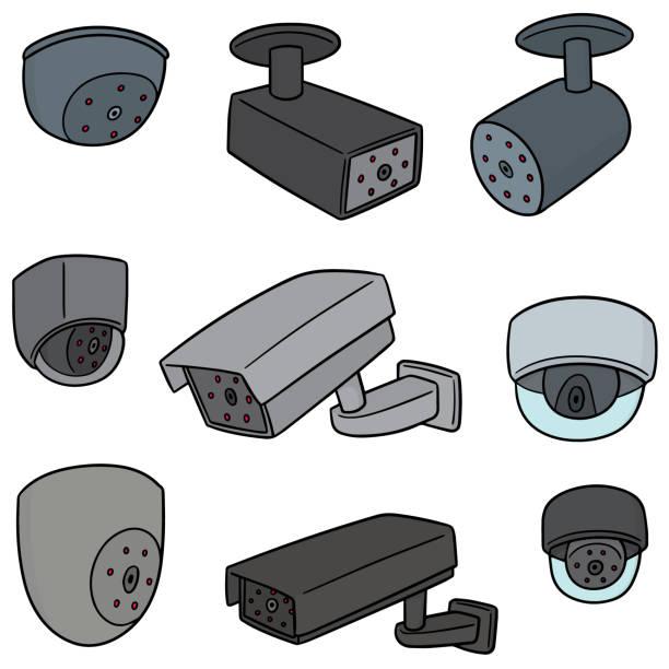 Royalty Free Cartoon Security Camera Clip Art Vector Images