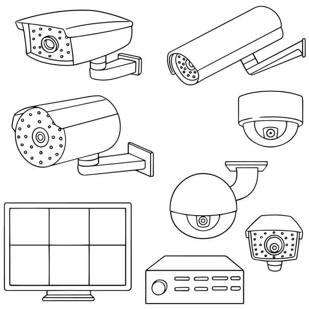 Best Cartoon Security Camera Illustrations, Royalty-Free