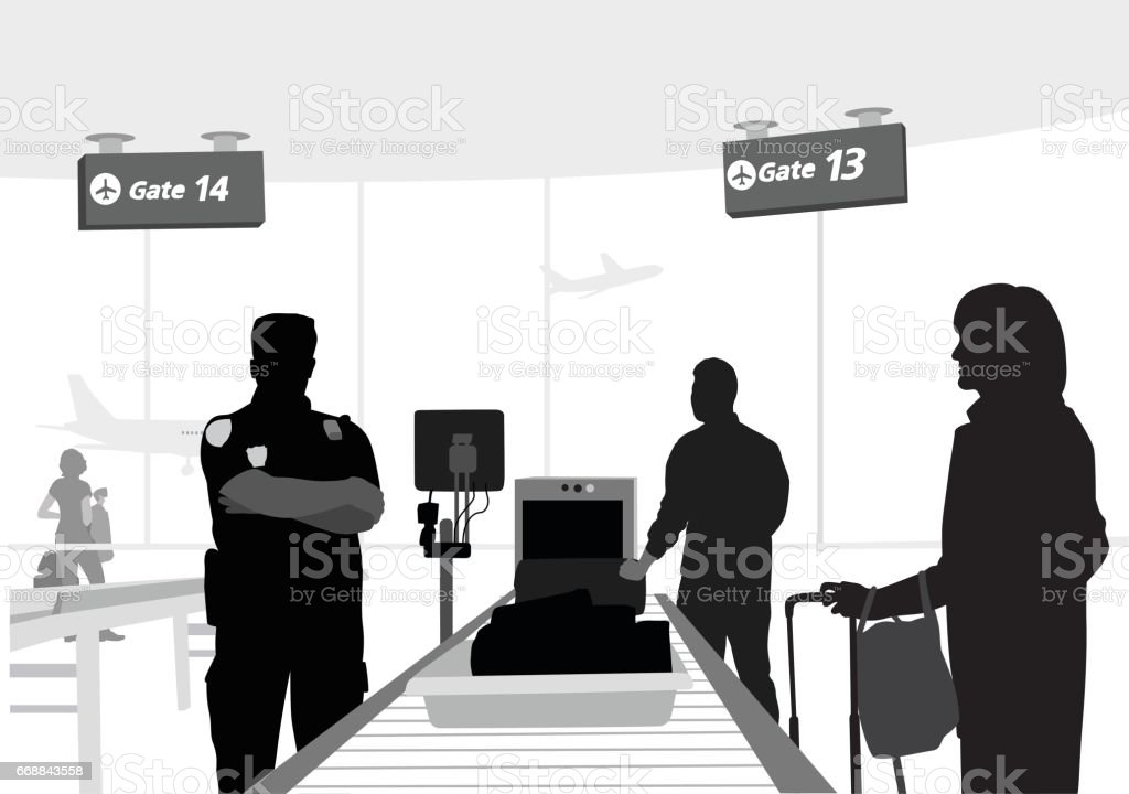 Security Checks vector art illustration