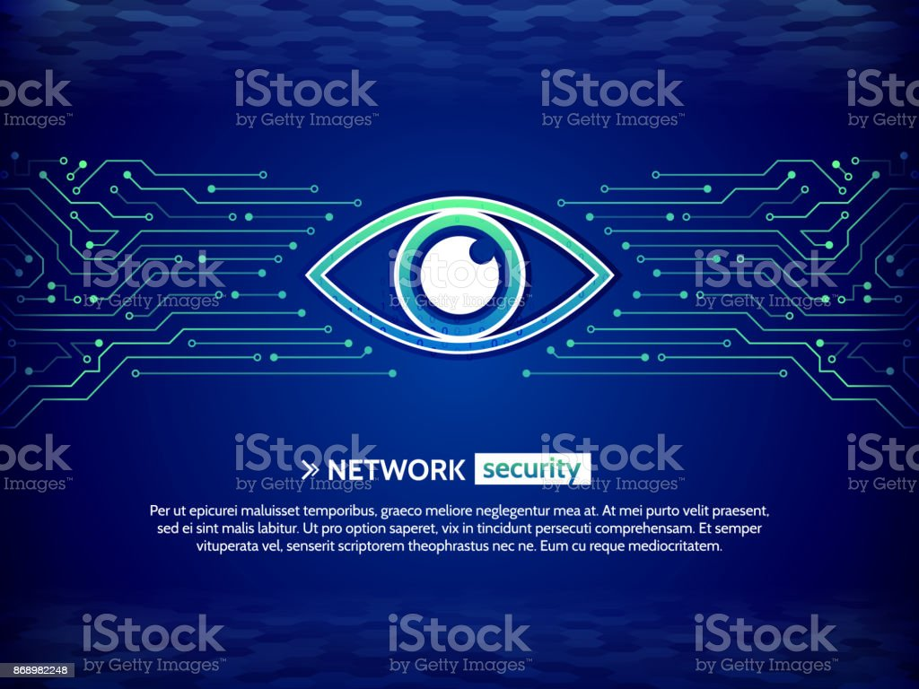Security Concept Background Cyber Data Security Information