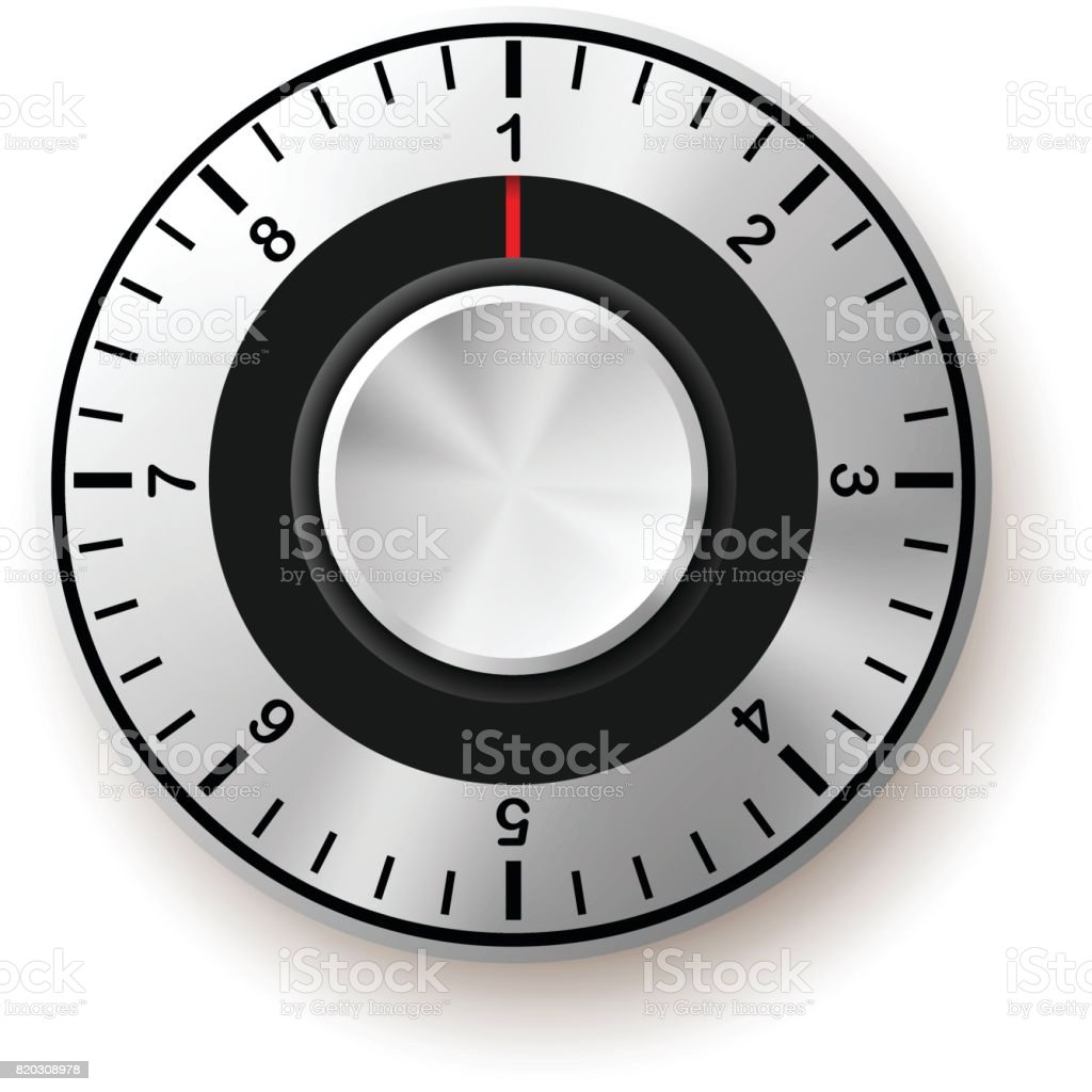 Security Concept. Safe Dial Icon. vector art illustration