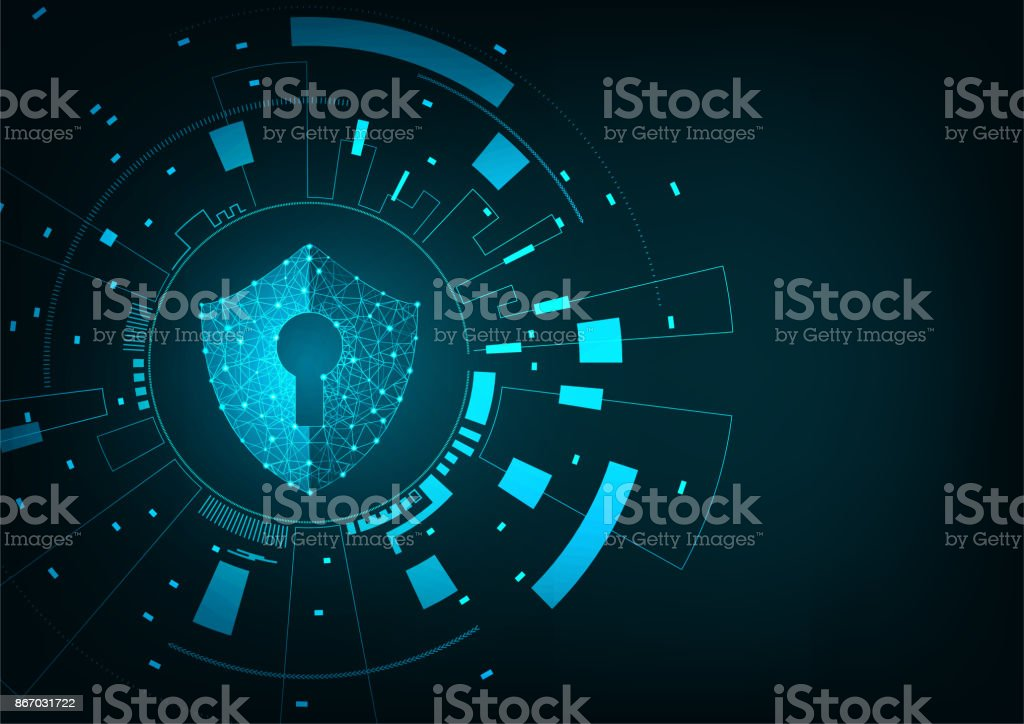Security concept vector art illustration