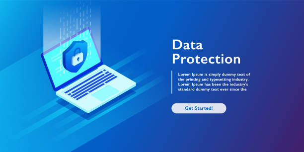 Security Data Protection Information Lock digital technology isometric vector illustration Security Data Protection Information Lock digital technology isometric vector illustration antivirus software stock illustrations