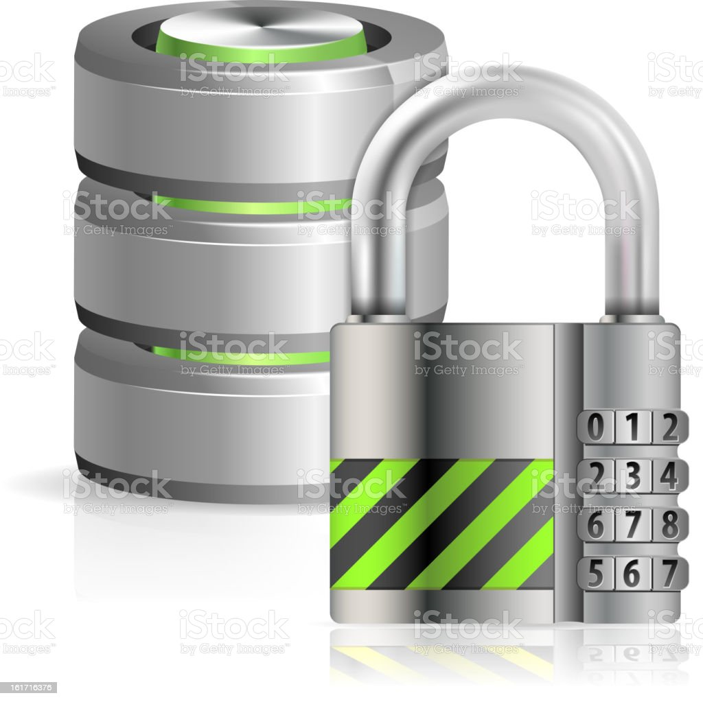 Security Database Concept royalty-free stock vector art