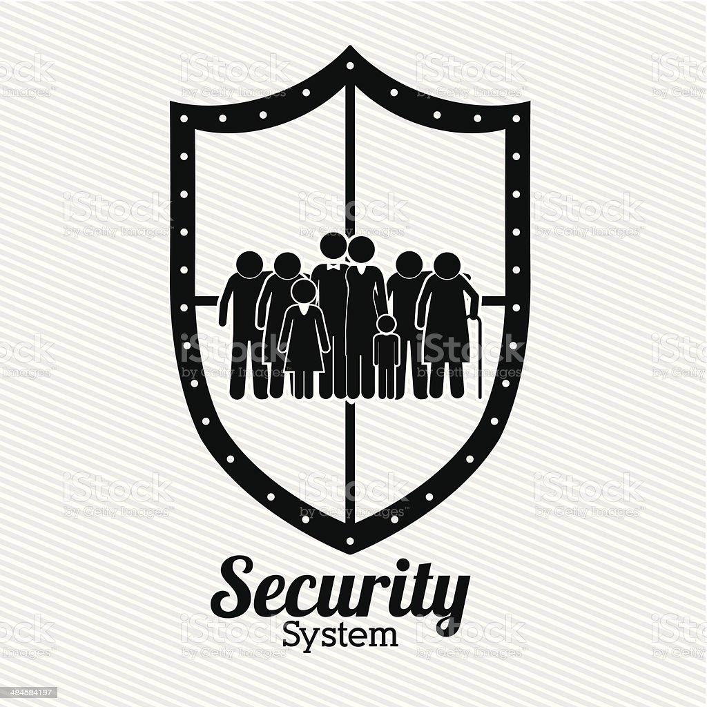 Projeto de segurança - ilustração de arte em vetor