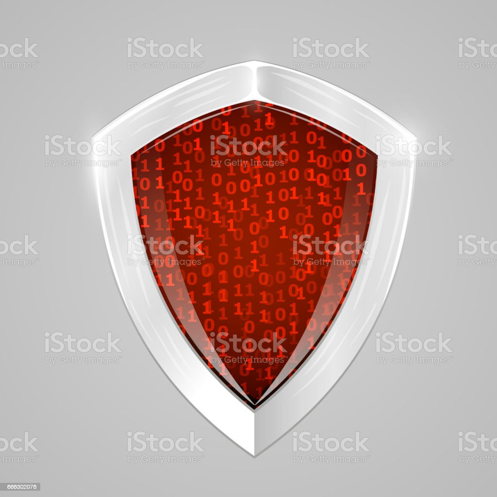 Security digital shield concept. Web security or cryptocurrency sign. vector art illustration