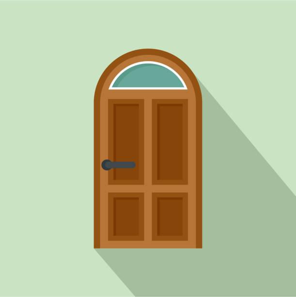 Security door icon, flat style Security door icon. Flat illustration of security door vector icon for web design front stoop stock illustrations