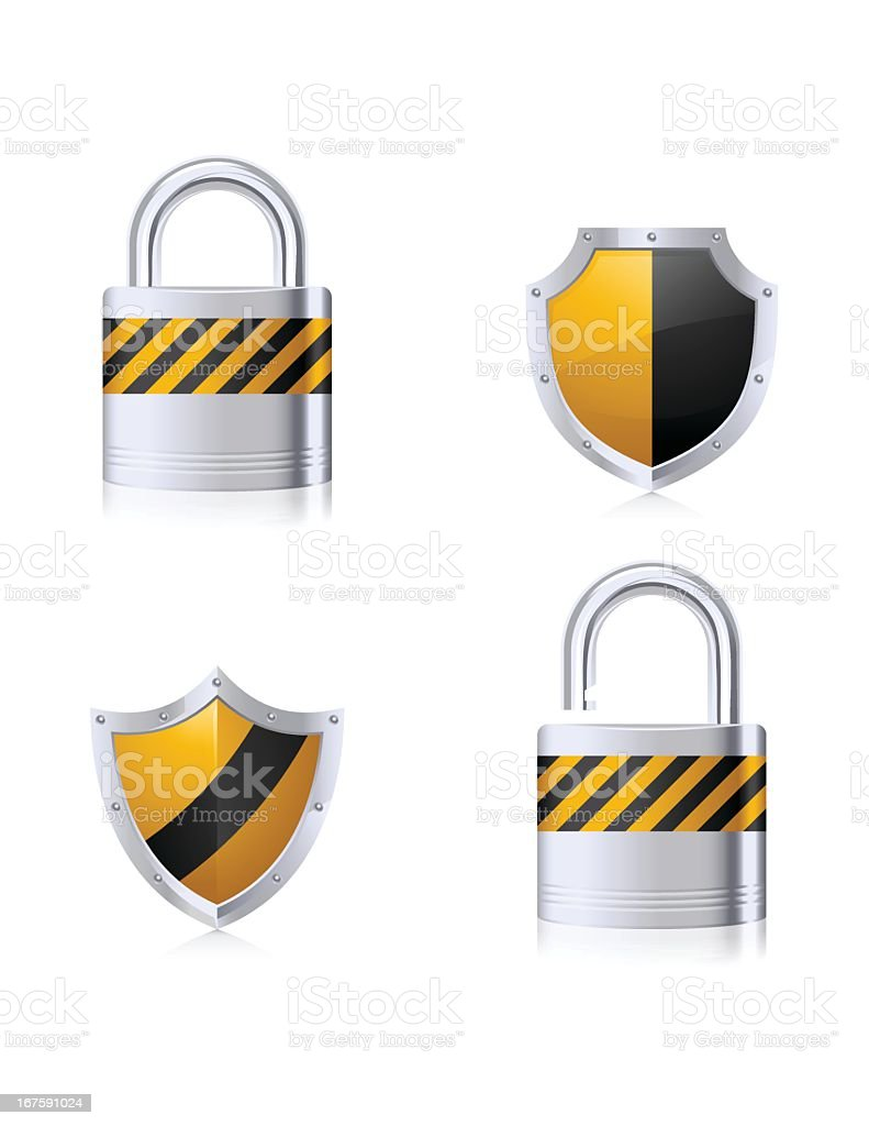 Security Elements royalty-free stock vector art