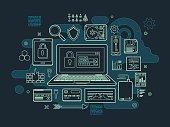 IT Security Flat Design Concept