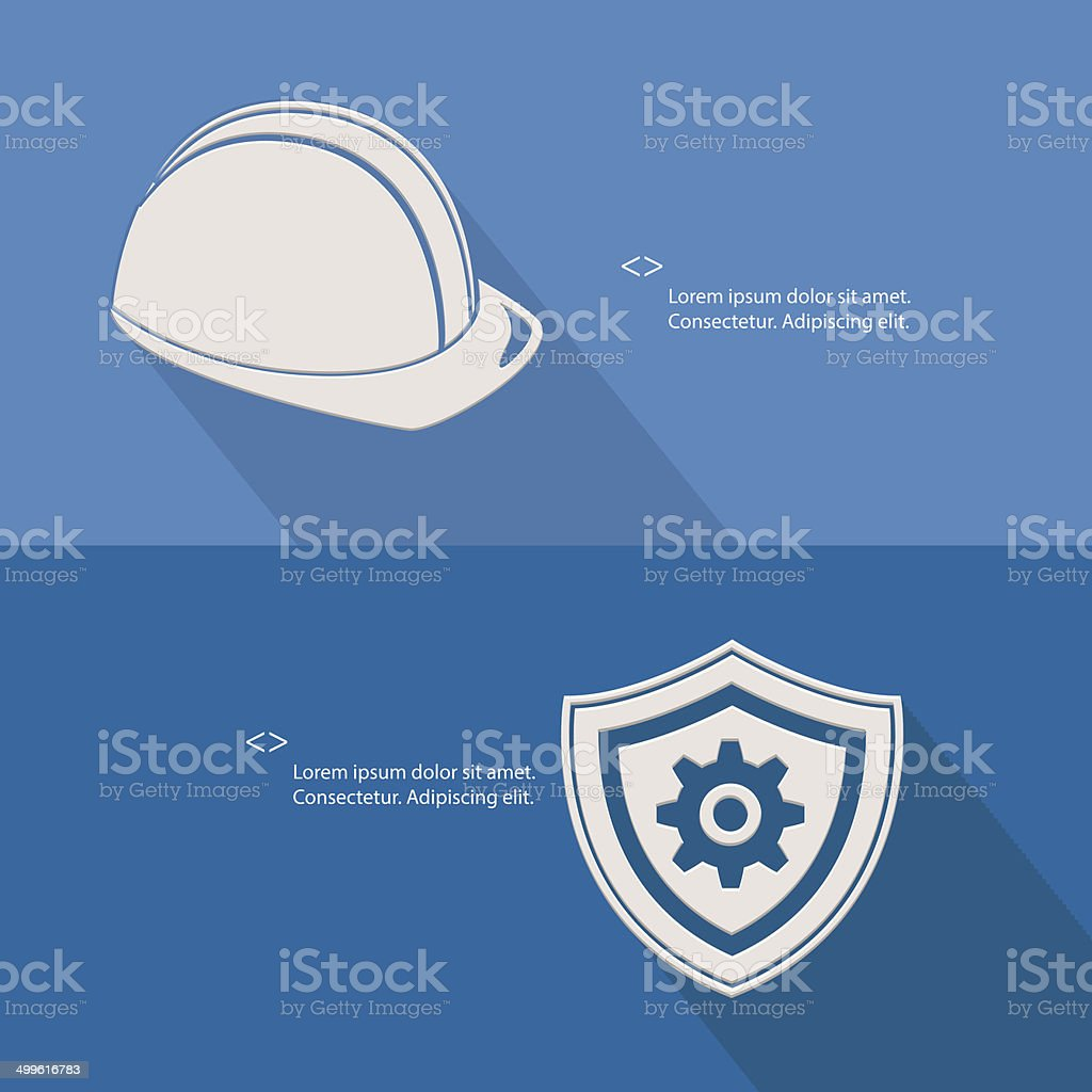 Security for engineering,Blank for text,blue version,vector vector art illustration