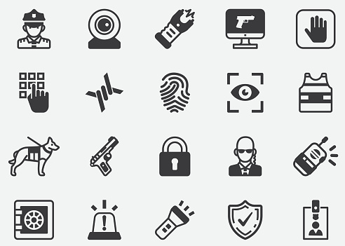 Security Guard and Police Pixel Perfect Icons