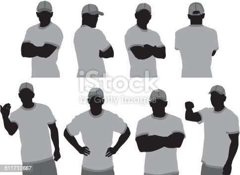 Security guard in various poses
