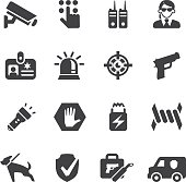 Security Guard Silhouette icons
