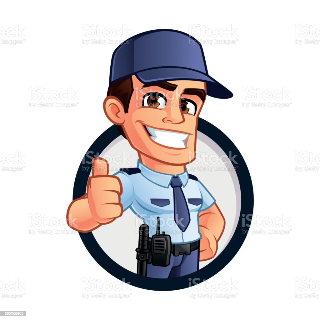 Security guard stock vector art more images of adult