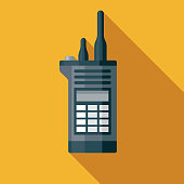 istock Security Guard Walkie Talkie Museum Icon 1202793985