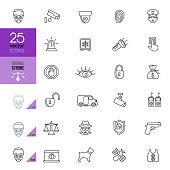 Security icon set. Editable stroke