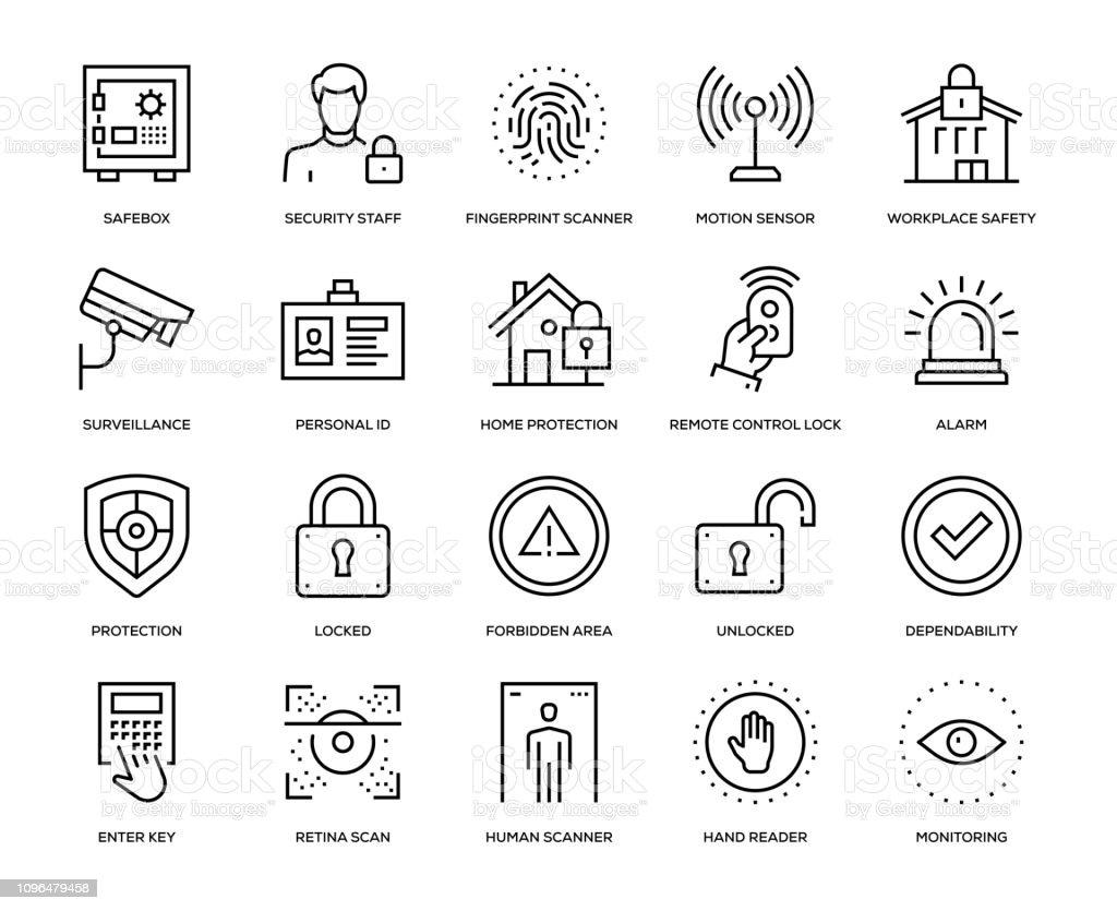 Security Icon Set - Royalty-free Acessibilidade arte vetorial