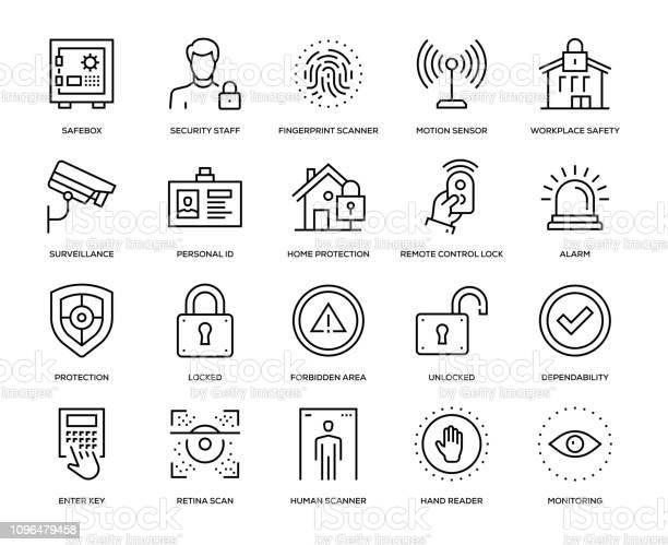 Security Icon Set - Arte vetorial de stock e mais imagens de Acessibilidade