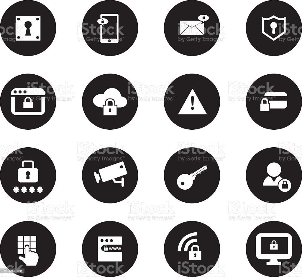 Set di icone di sicurezza set di icone di sicurezza - immagini vettoriali stock e altre immagini di affari royalty-free