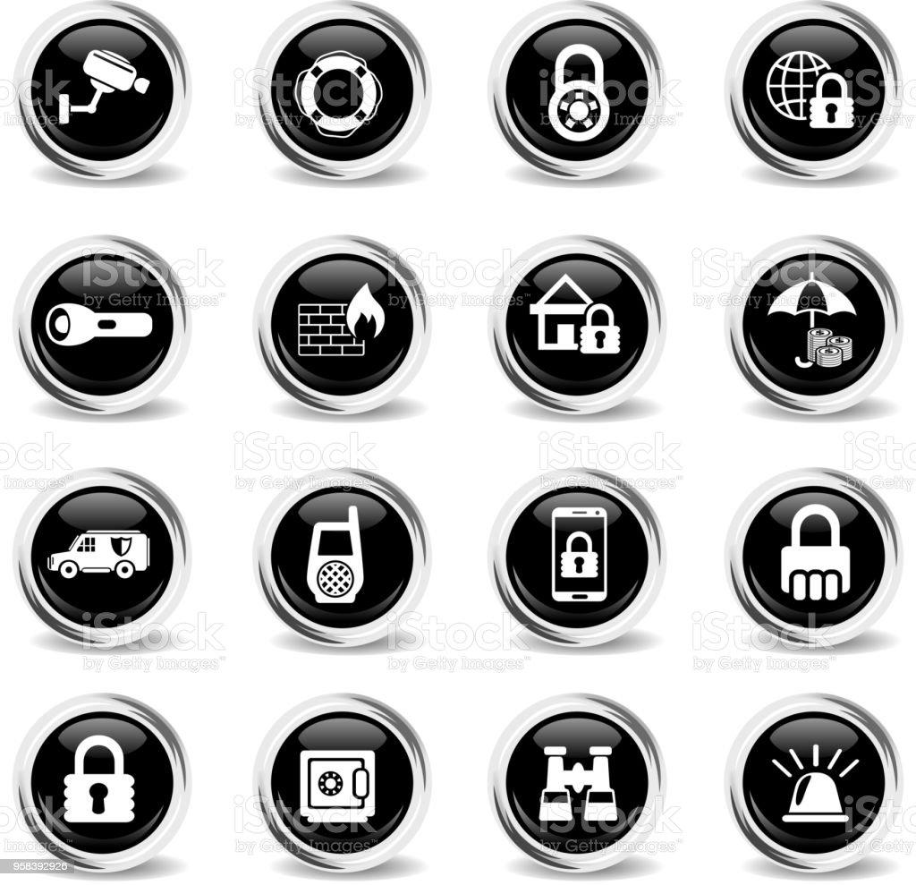 security icon set vector art illustration
