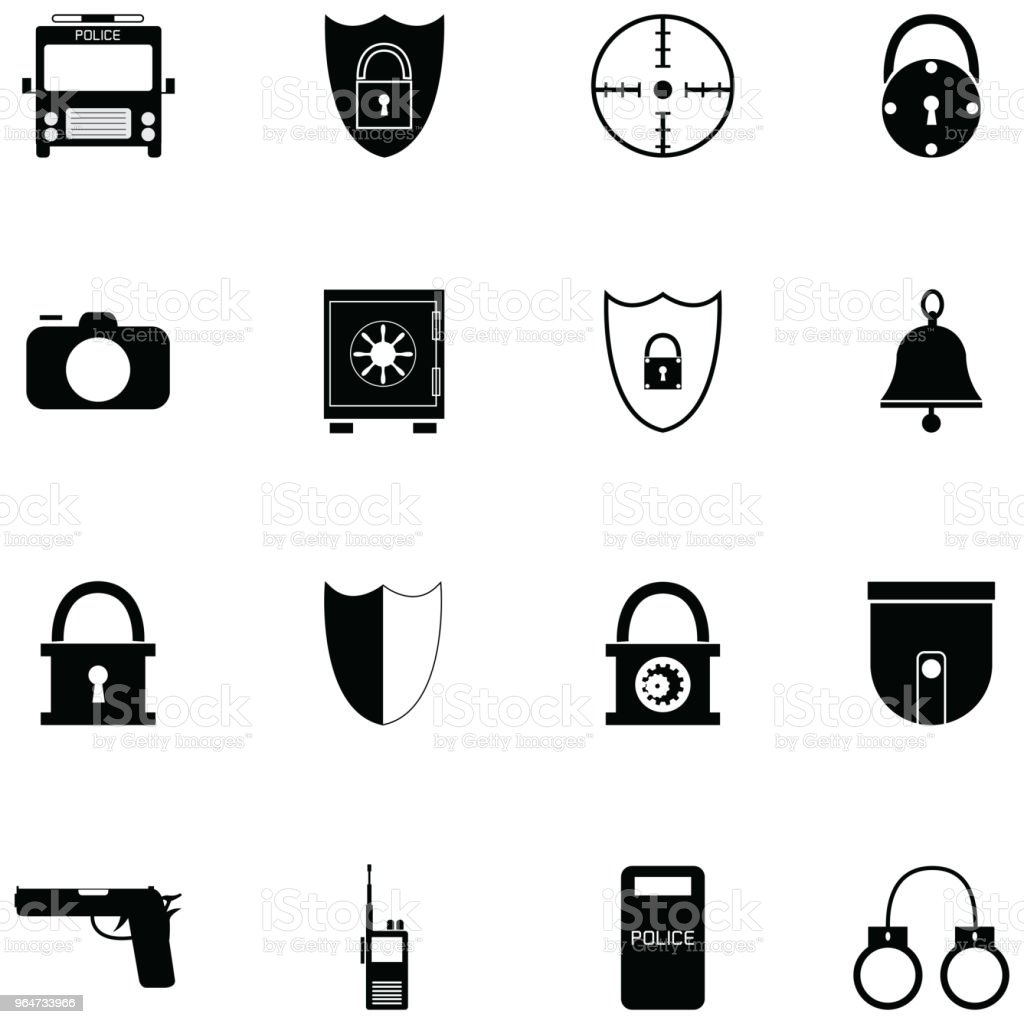 security icon set royalty-free security icon set stock vector art & more images of accidents and disasters
