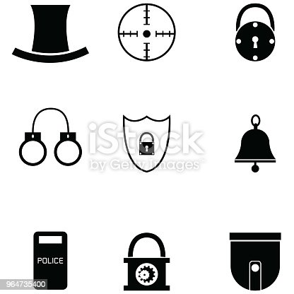 Security Icon Set Stock Vector Art & More Images of Accidents and Disasters 964735400