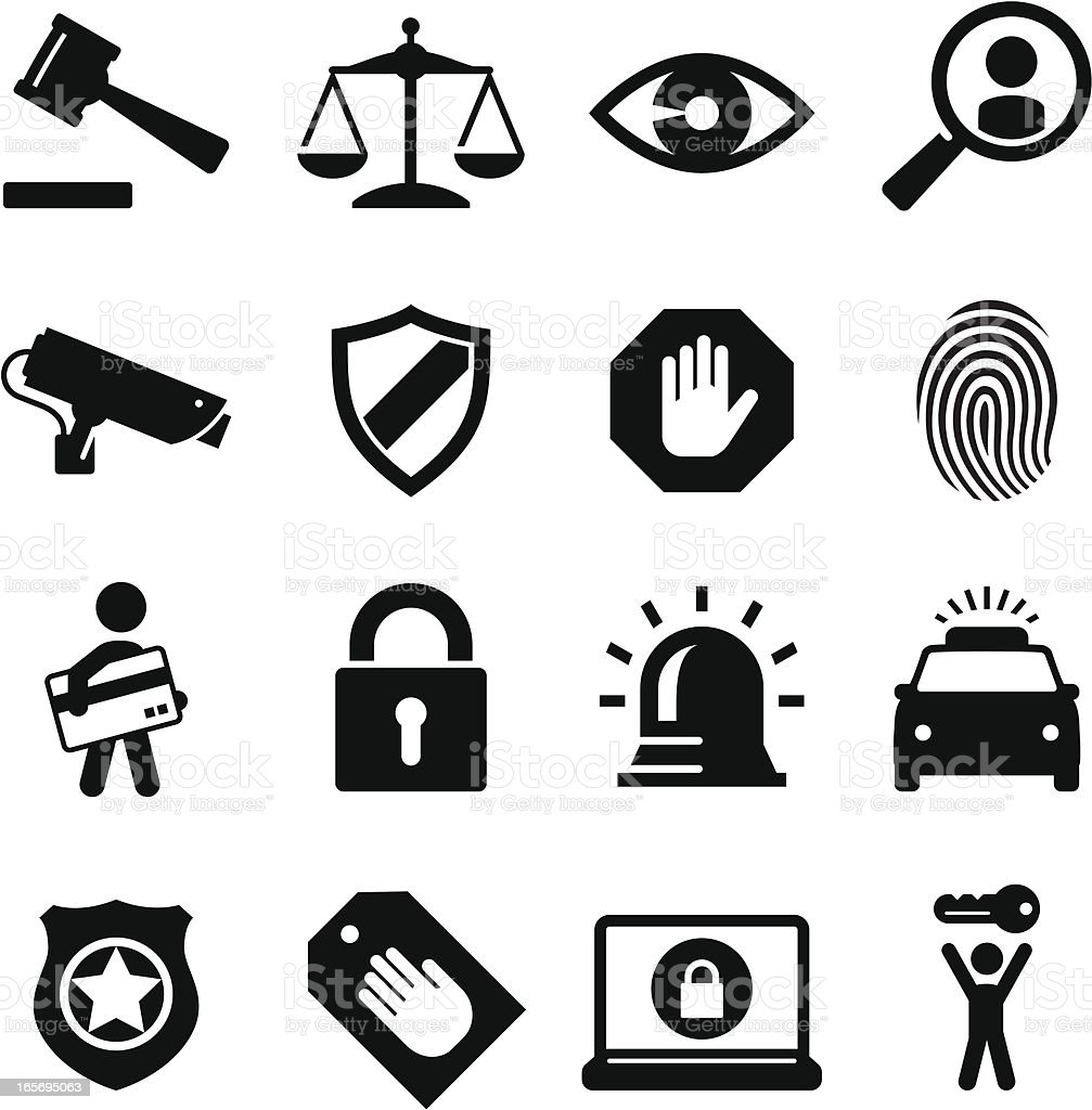 Security Icons Black Series Stock Vector Art & More Images ...