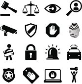 Security and legal theme icon set. Professional icons for your Web site or print project. See more in this series.