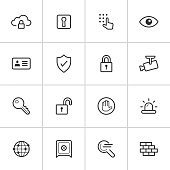 Security Icons — Inky Series