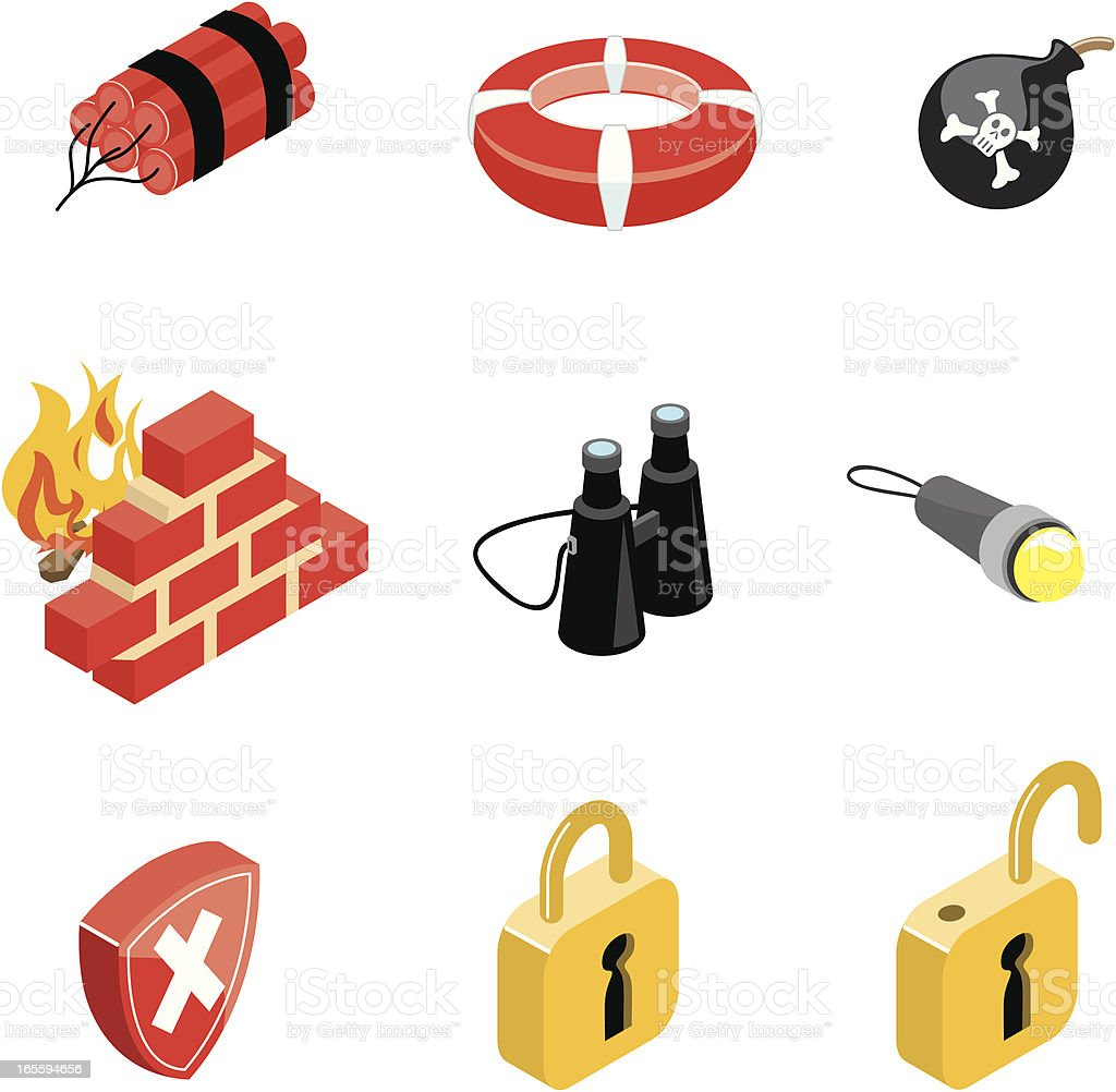Security icons | ISO collection royalty-free security icons iso collection stock vector art & more images of binoculars