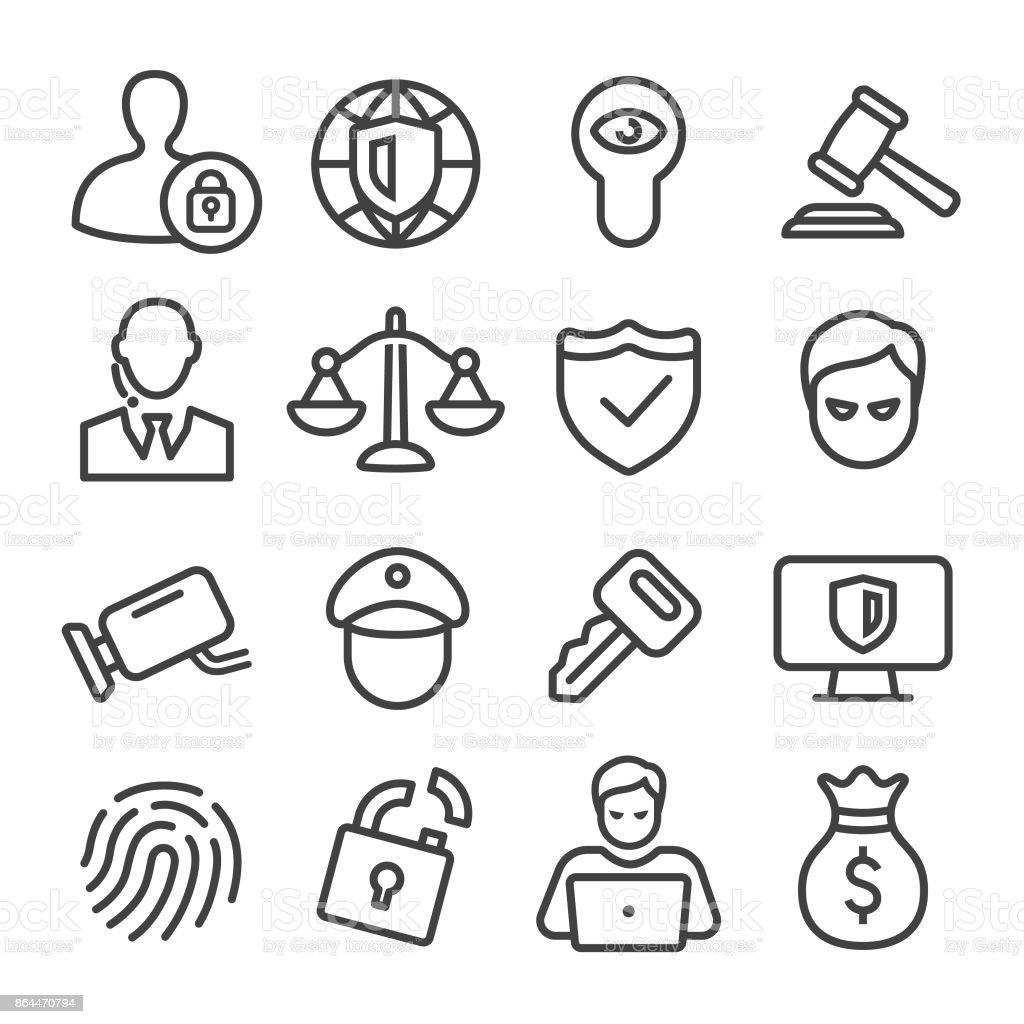 Security-Symbole - Line Serie – Vektorgrafik