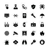 Security icons - Regular Glyph