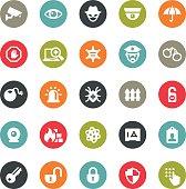 Ringico series / Set #32 - Security icons.