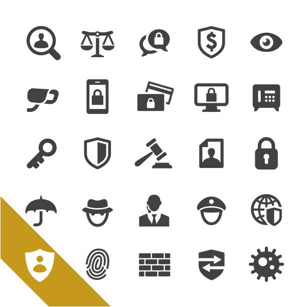 セキュリティのアイコン - シリーズを選択します - id盗難点のイラスト素材/クリップアート素材/マンガ素材/アイコン素材