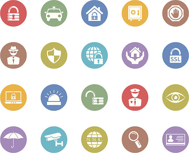 セキュリティのアイコンシリーズ - id盗難点のイラスト素材/クリップアート素材/マンガ素材/アイコン素材
