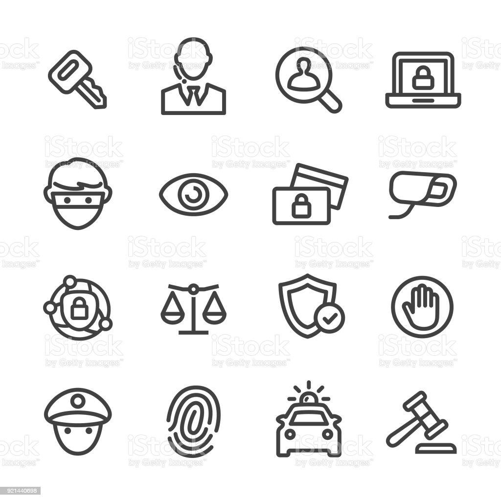 Sicherheit Icons Set - Line Serie – Vektorgrafik